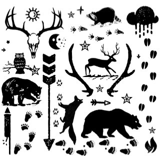 Forest Creatures Deer Owls Moose Fox and More