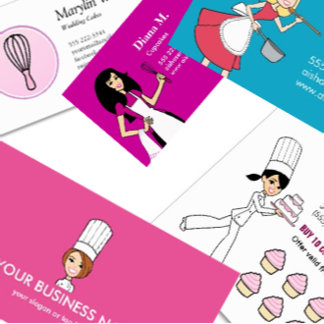 Business Cards Templates for Culinary Baker Chefs