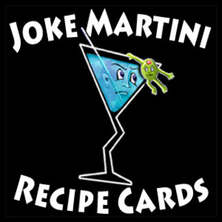 JOKE MARTINI RECIPE CARDS