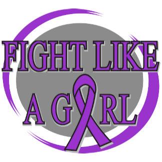 Epilepsy Fight Like A Girl Circular