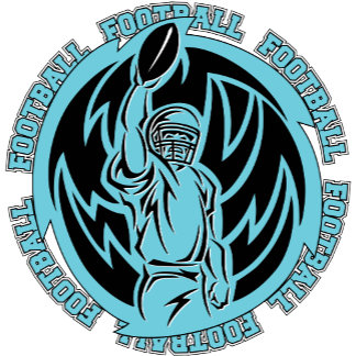 Football Tribal Light Blue Logo