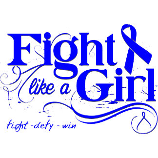 Colon Cancer Fight Like A Girl Elegant
