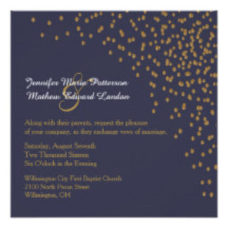 Gold Dots Wedding Set