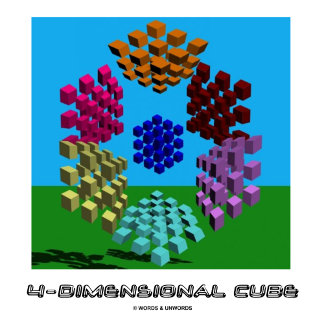4-Dimensional Cube (Math and Geometry)
