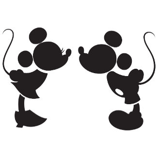 Minnie and Mickey Silhouette