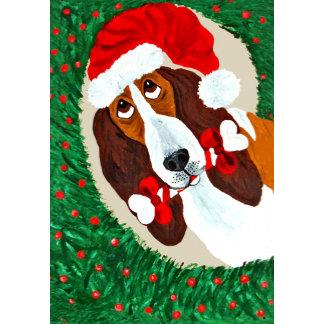 Basset Hound Christmas Wreath