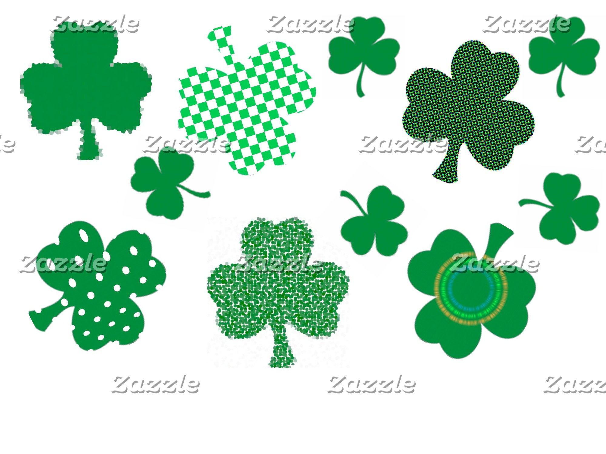 I LOVE IRISH SHAMROCKS