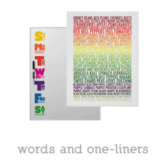 words and one-liners