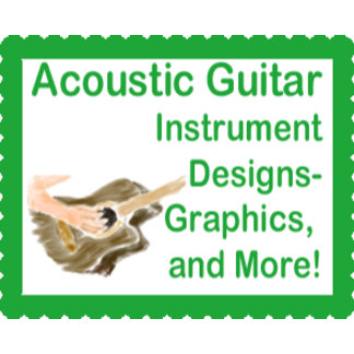 Acoustic guitar player designs and product gifts