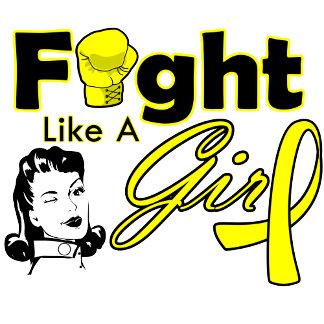 Bladder Cancer Fight Like A Girl - Retro Girl