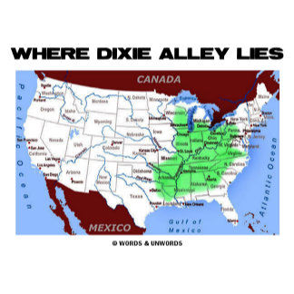Where Dixie Alley Lies (Map Of United States)