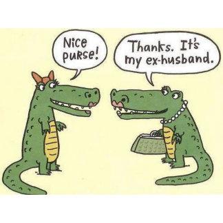 Ex Husband Alligator Purse