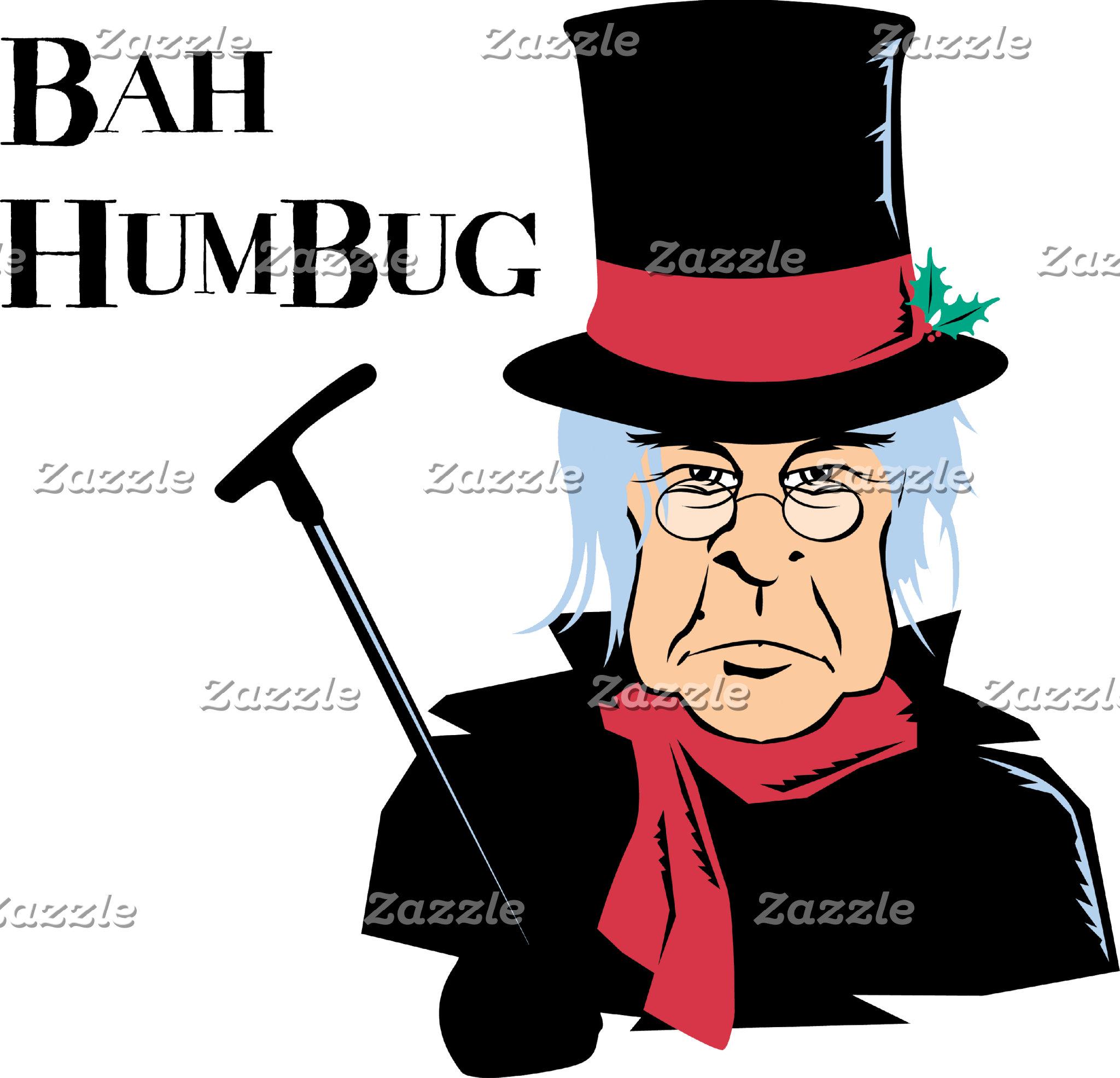 Bah Humbug Scrooge T-Shirt Sweatshirt Cards