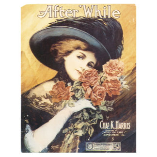 After While Song  - Vintage Song Sheet Music Art