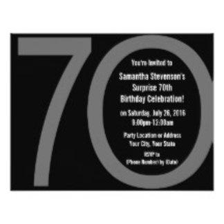 70th,80th,90th,100th Birthday Party Invitations