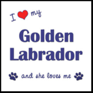 I Love My Golden Labrador (Female Dog)