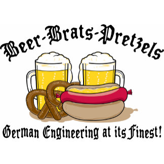 Beer Brats Pretzels German T-Shirt Gifts Cards