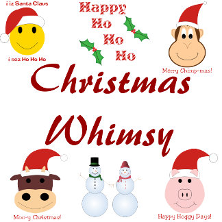 Whimsical Christmas gifts and decorations