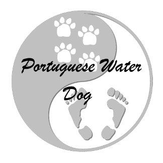Yin yang Portuguese Water Dog
