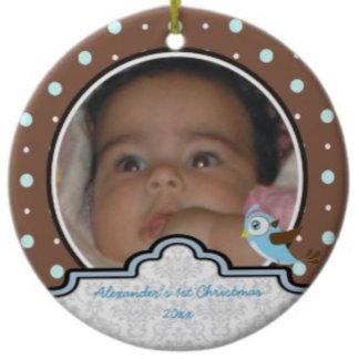 Baby's 1st Christmas polka dot and label