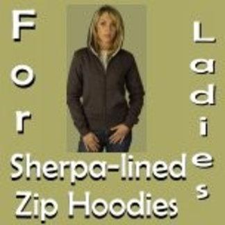 Ladies Sherpa-lined Zip Hoodies
