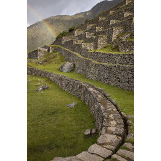 Rainbows over the agricultural terraces, Machu