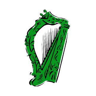green black ornate harp music design.png