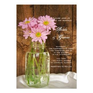 Mason Jar and Pink Daisies Country Barn Wedding