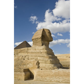 Egypt, Giza. The great Sphynx rises above the