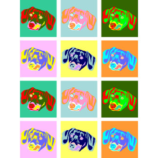 Twelve Colorful Dachshunds