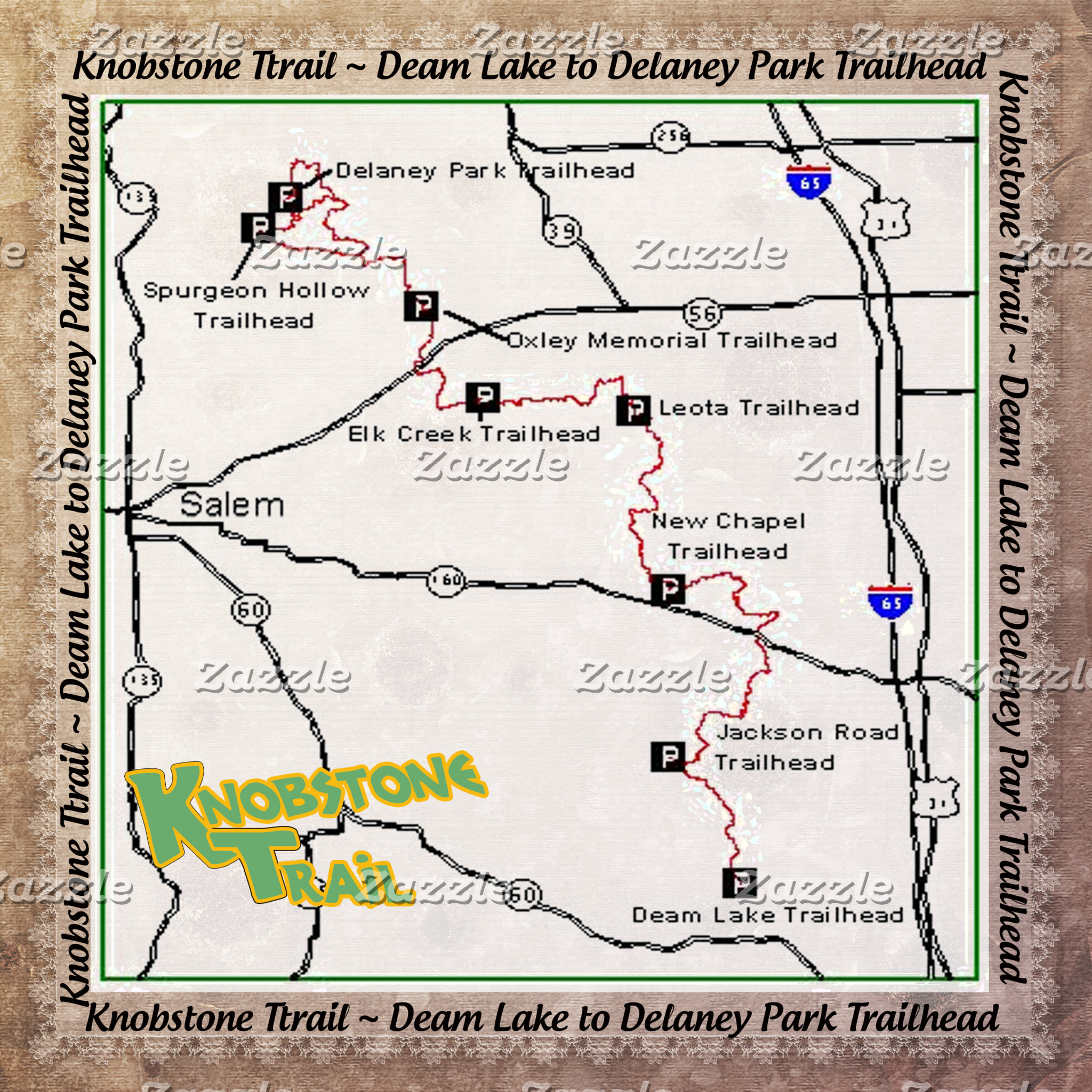 TRAIL MAP KT KNOBSTONE TRAIL DEAM TO DELANEY