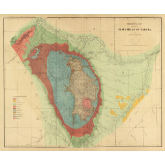Geological map of the Black Hills of Dakota
