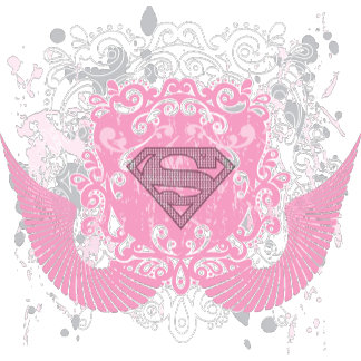 Supergirl Pink Winged Design