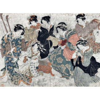 Parody of the sages of the bamboo by Kubo,Shunman