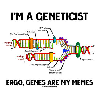I'm A Geneticist Ergo, Genes Are My Memes