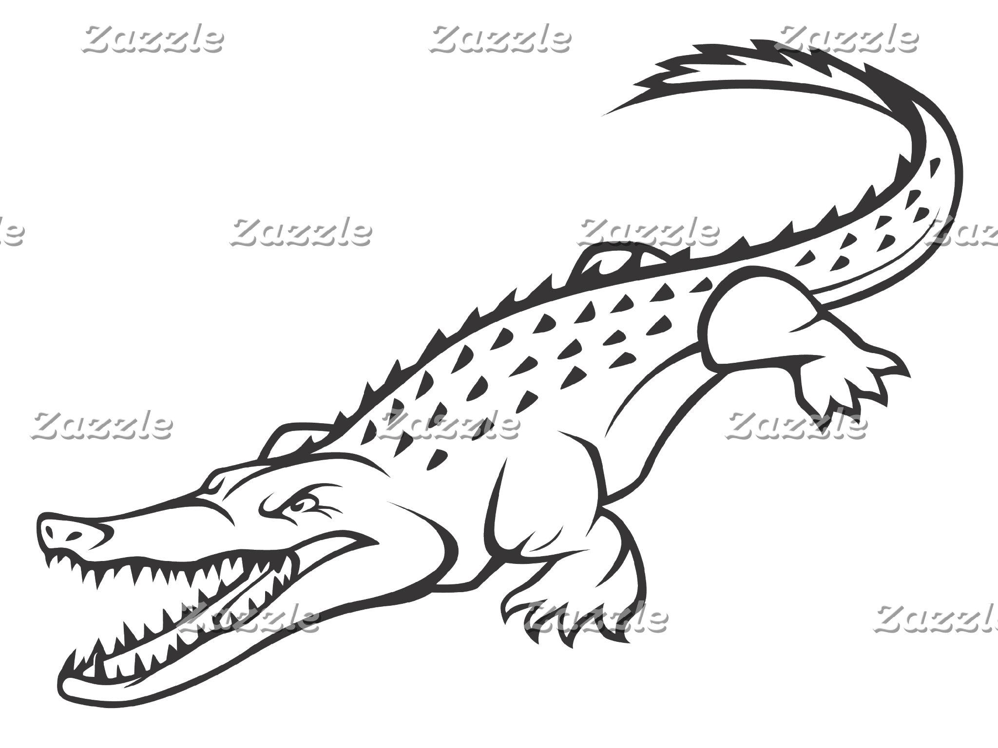 Angry American Crocodile
