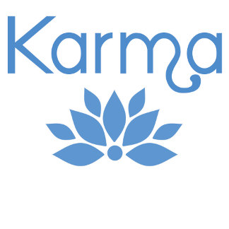 Karma with Lotus Flower in Blue