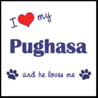 I Love My Pughasa (Male Dog)