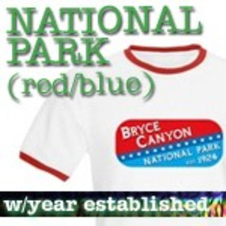Red/Blue Logo National Park T-Shirts