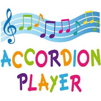 Accordion Player Rainbow Tshirts