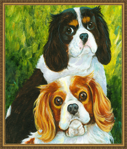 CAVALIER KING CHARLES SPANIELS PORTRAIT