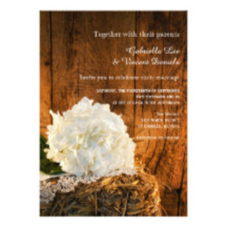 White Hydrangea and Barn Wood Country Wedding