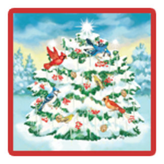 Wild Birds Nature Christmas Tree Design