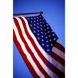 """American flag and sky poster print"""