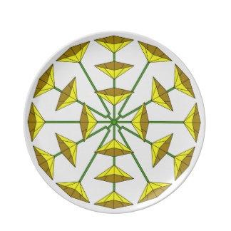 Flower Art Plates