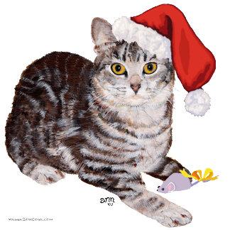 Tabby Cat Christmas 3 DESIGNS