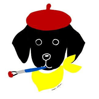 Black Lab Puppy Painter!!