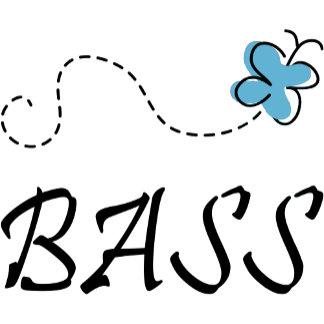 Blue Butterfly Bass Player