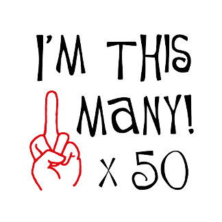 50th birthday Finger