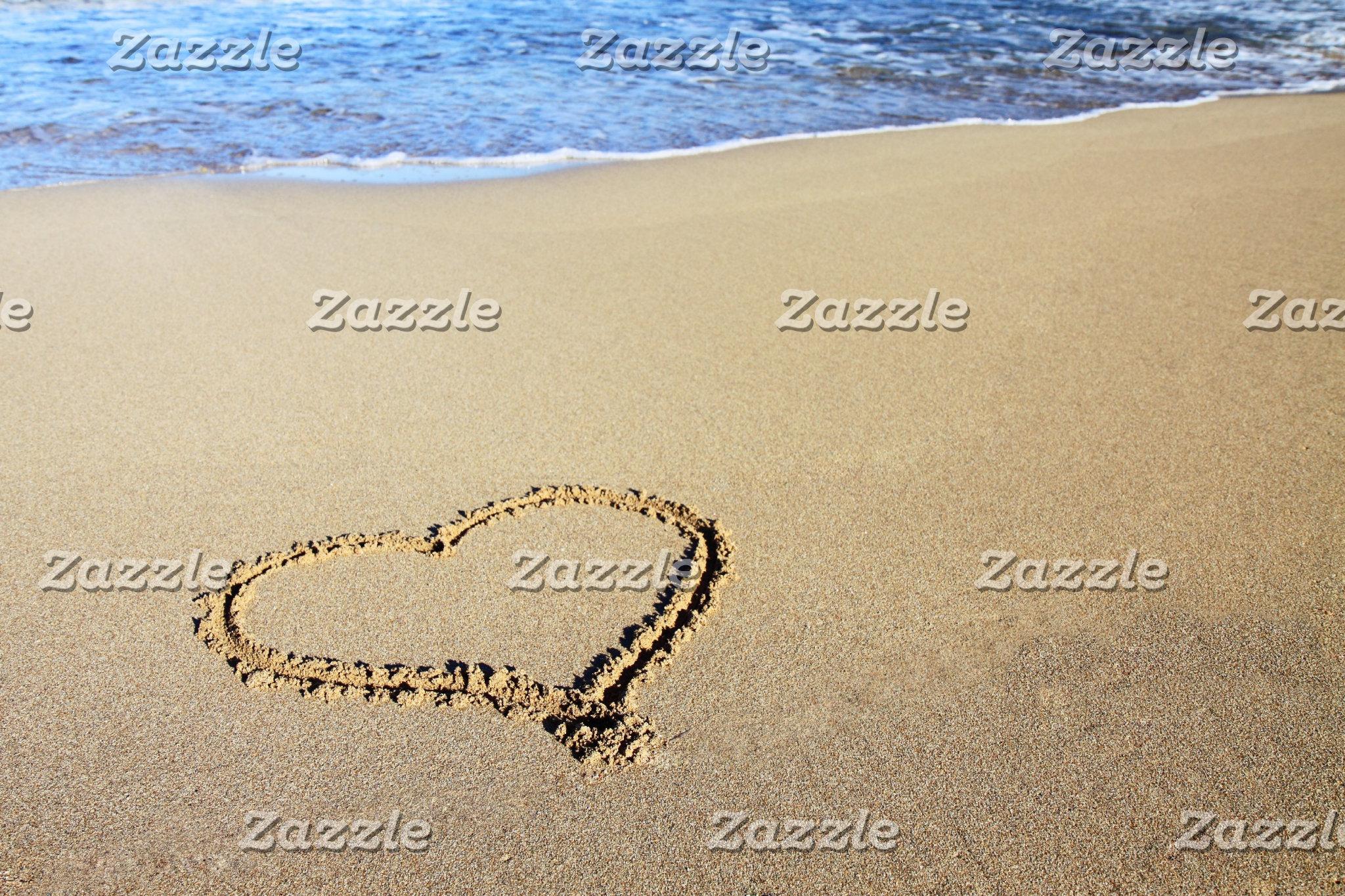 Beach Love Hearts